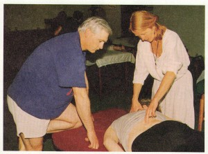 Carol teaches lesson one to address the Landau reflex highlighting the spine.
