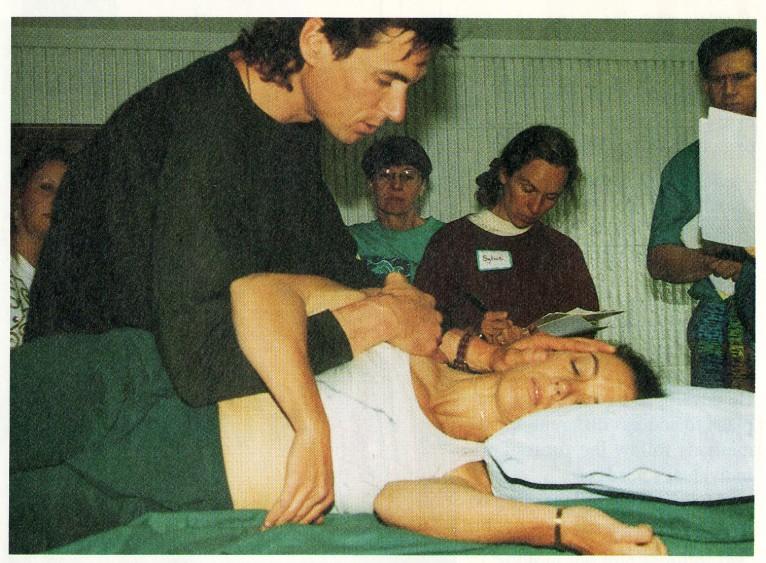 Roger teaches lesson one to address the Landau refIex - cervical shoulder control relationship.